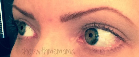 my eyes before they're real! mascara