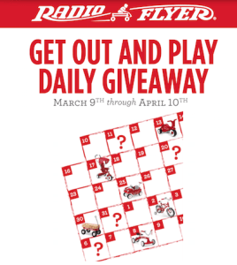 Radio Flyer Get Out And Play Daily Giveaway!