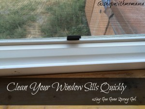 Clean Your Window Sills Quickly (Giveaway) #GooGone