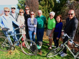 Preparing to bike for Shoreline Greenway Trail at the Rock to Rock Earth Day Ride in New Haven on April 25.