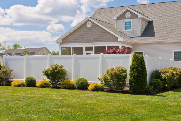 The Caroline Privacy Fence, our most popular fencing style.