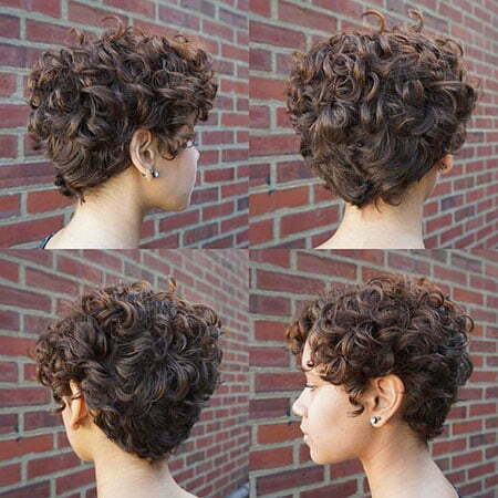 Short Curly Curl Updo