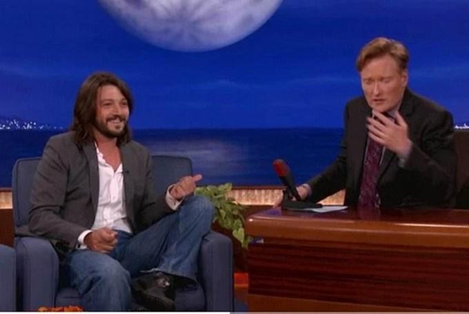 Diego Luna at the Conan O' Brien show