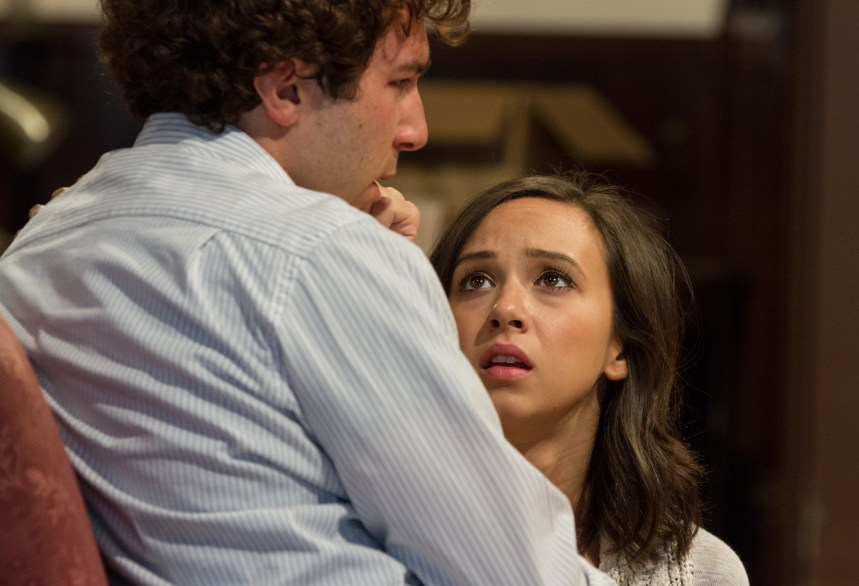 (left to right) Cast members Aaron Himelstein (Caleb Trask) and Brittany Uomoleale (Abra Bacon)