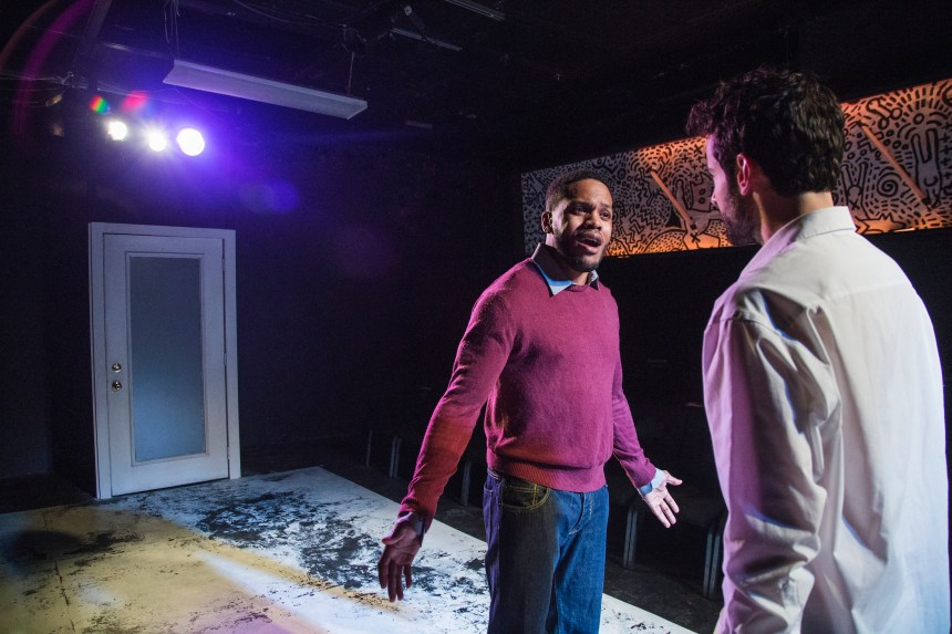 Brian Keys and Nik Kourtis in First Floor Theater's Animals Commit Suicide, written by J. Julian Christopher, and directed by Hutch Pimentel.