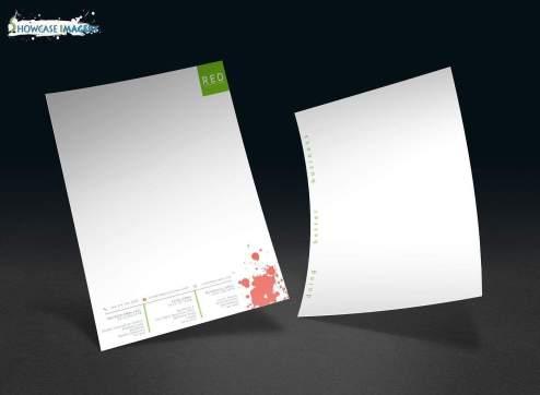 NSL4982 red resource uk letterhead design