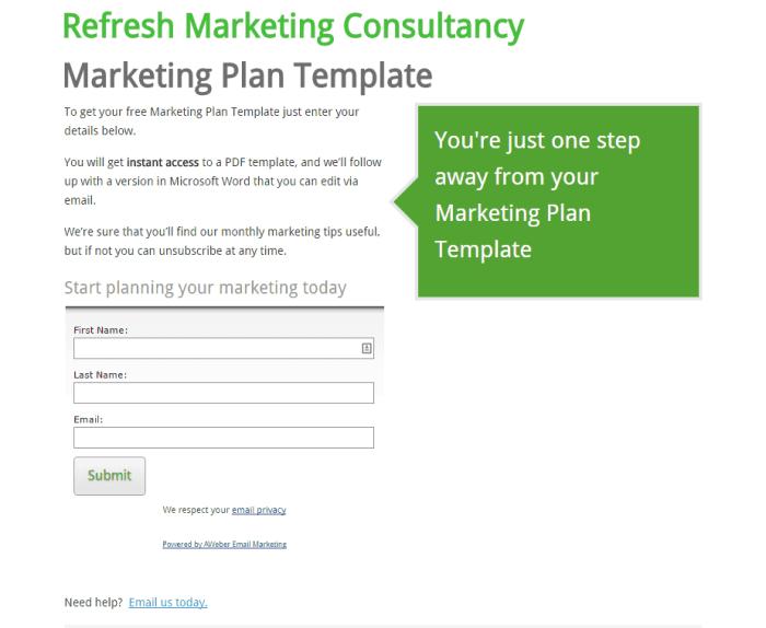 Marketing-Plan-Template Refresh Marketing Consultancy