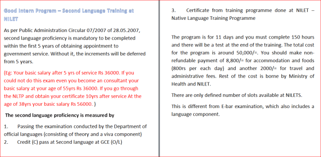 Native language training programme introduction