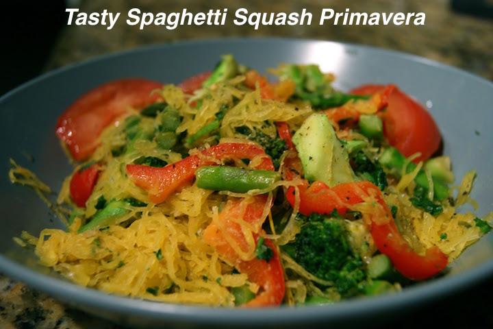 Creamy Spaghetti Squash Primavera Recipe