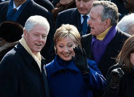 Hillary Clinton and George H.W. Bush