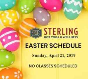Sterling Hot Yoga Holiday Schedule Mobile AL