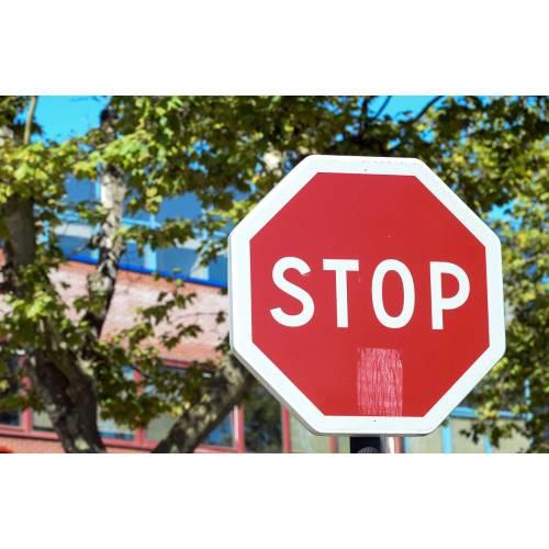 Medium Crop Of Stop In German