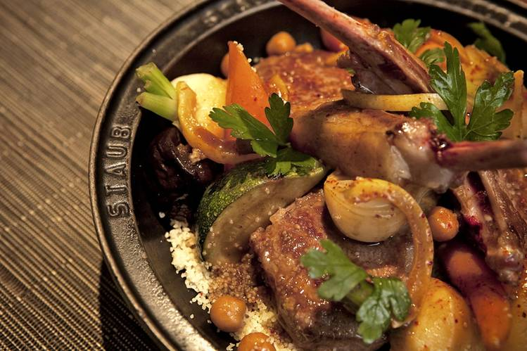 Lamb sautéed with spices, carrots and turnips at Les Cocottes