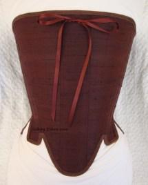 Brown Silk Renaissance Stays - Front View, by Sidney Eileen