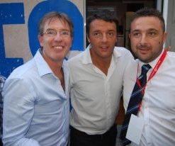 Matteo Renzi a Chiusi con Scaramelli e Bettollini