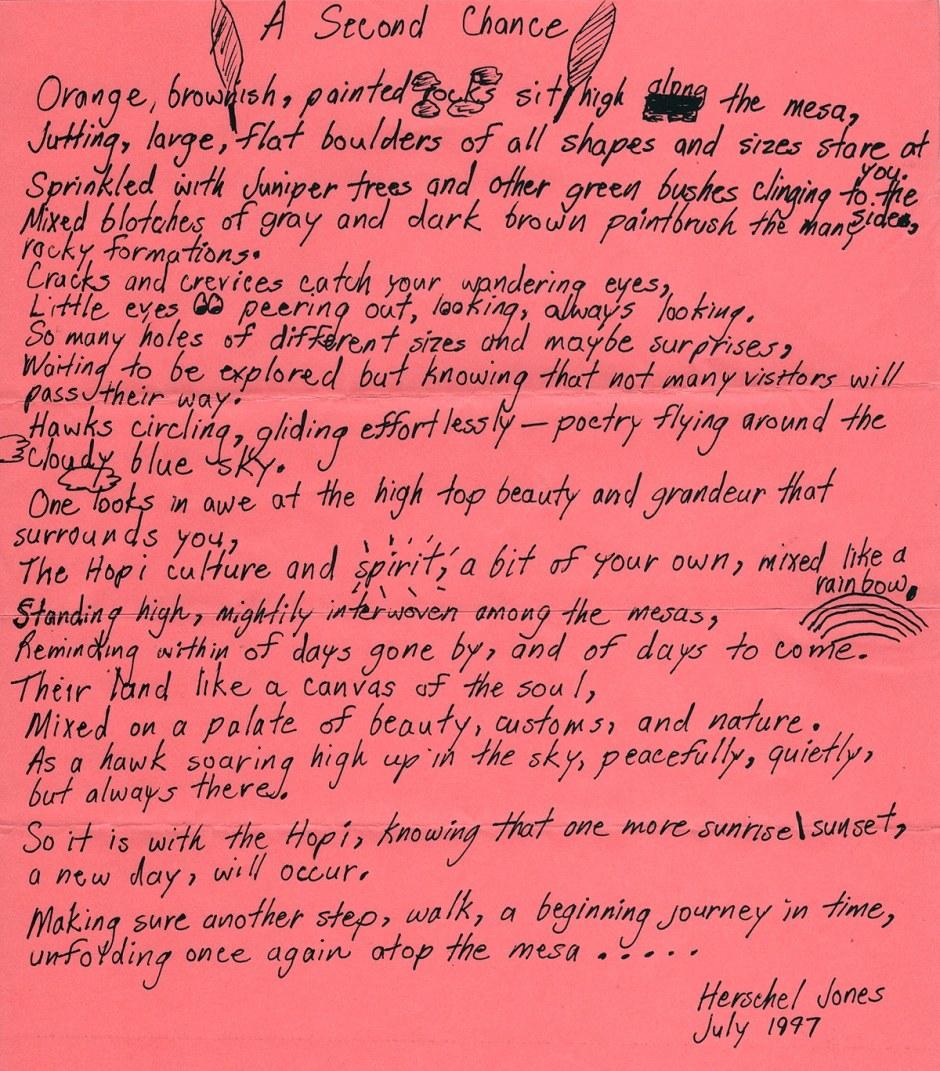 Poem by Hershel Jones, July 1997