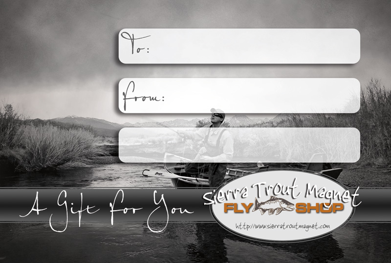 STM Fly fishing gift certificate, fly fishing Christmas gift