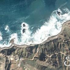 Пляж Бенихо вид со спутника