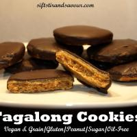 TAGALONG COOKIES- Vegan, Grain-Free, Peanut-Free, Refined Sugar-Free & Oil-Free