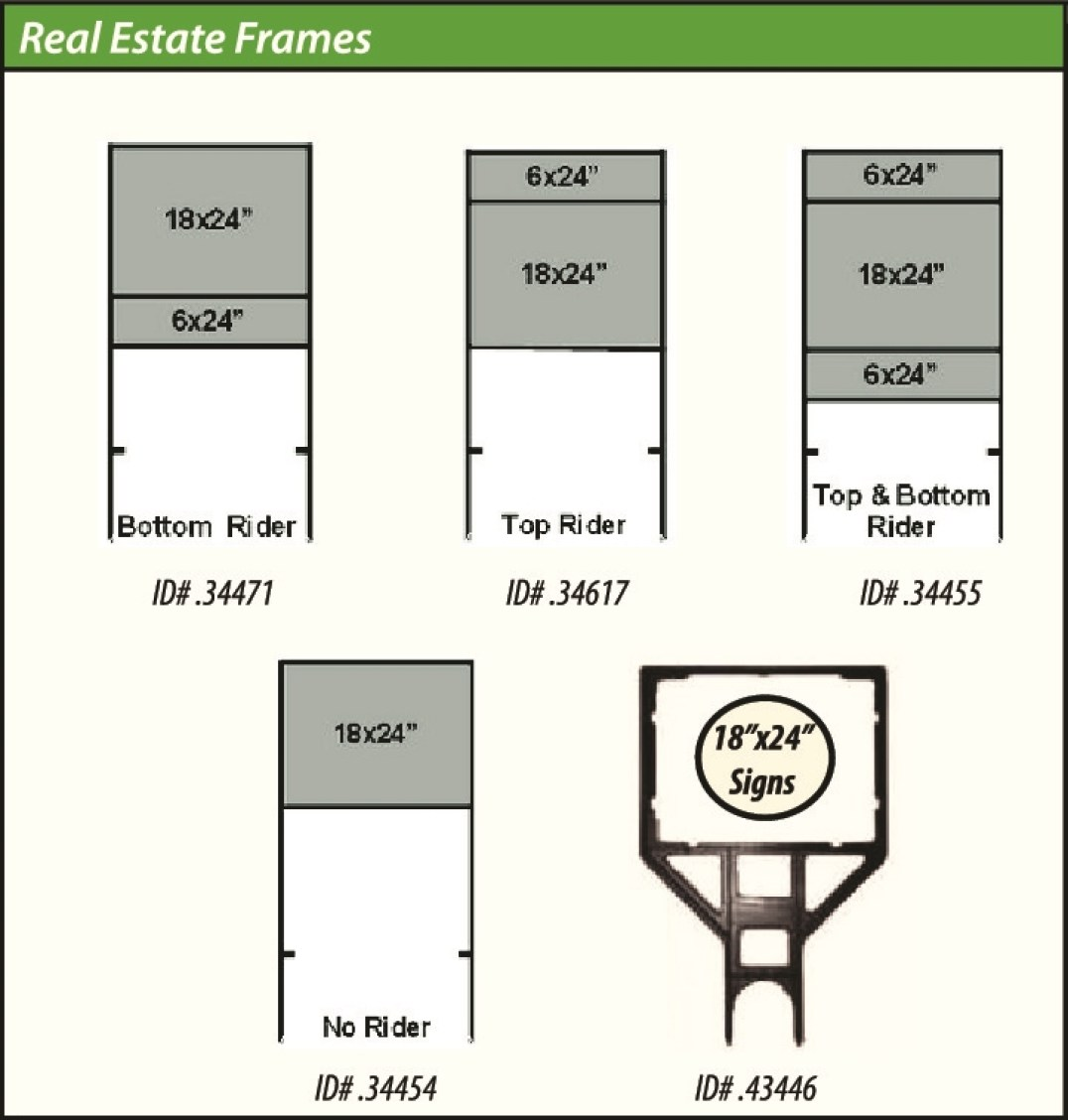 Sign-Authority Real Estate Frames