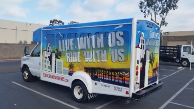 Shuttle van wrap