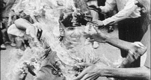 A Sikh Boy Being Burnt Alive  in 1984.
