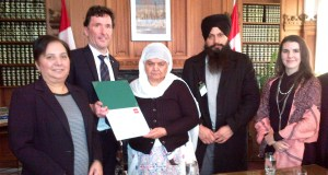 NDP MPs MEET SURVIVOR OF 1984 ANTI-SIKH POGROMS BIBI JAGDISH KAUR IN HONOUR OF INTERNATIONAL HUMAN RIGHTS DAY