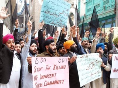 Religious persecution - Sikhs lash out against murder, kidnappings