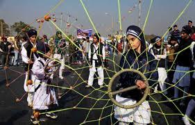 Girls' gatka prowess on display