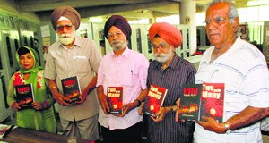 Principal Prem Singh Bajaj (second from right) releases the translations of the books penned by Dr Pritam Singh Kambo.