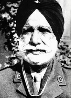Sardar Bahadur Chhajjaobi Singh Kler, OBI, who served on the Western Front in the First World War