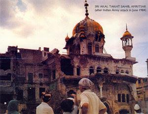 June-1984-Akal-Takht-Sahib