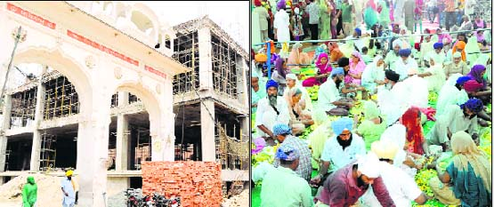 The new langar hall building ; (and right) volunteers prepare langar in the Golden Temple