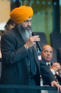 Bhai Amrik Singh, the Chair of the Sikh Federation (UK)