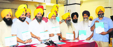 Members the Akaal Purkh Ki Fauj during the launching of a campaign against drug addiction in Amritsar on