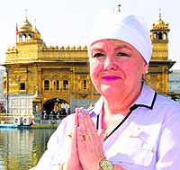 Canadian minister for national revenue Kerry Lynne Findlay at the Golden Temple in Amritsar