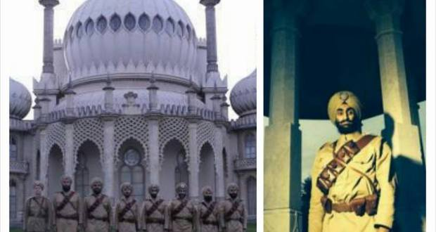 Recreated Sikh regiment comes to Brighton Royal Pavilion in full military uniform.