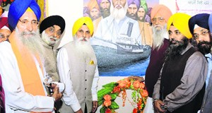 Members of Chief Khalsa Diwan at the inauguration of the three-day educational conference in Tarn Taran on Friday.