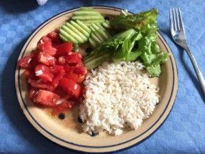 plato arroz y verdurasl
