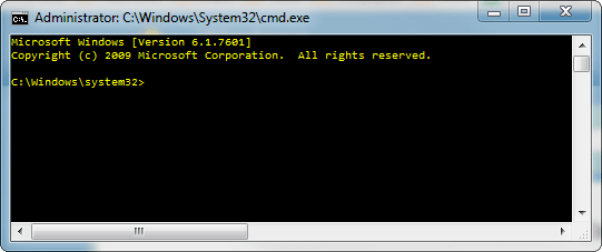 Elevated Command Prompt