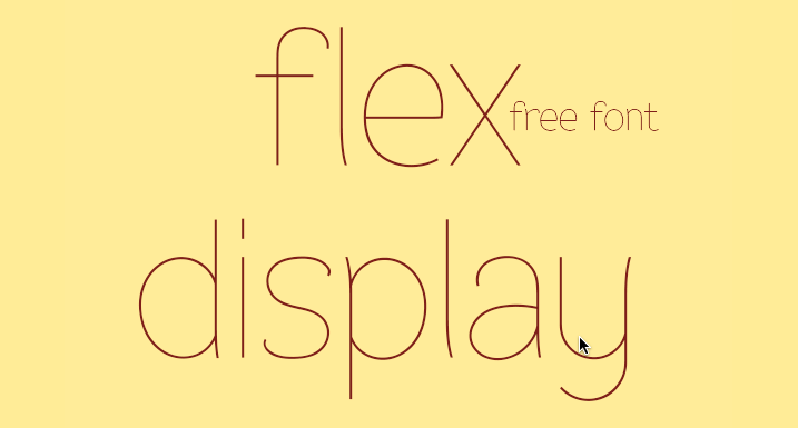 Free Font Friday: Flex Display