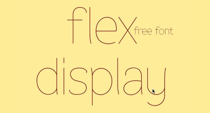 Free Font Friday Flex Display  SiliconChaoscom