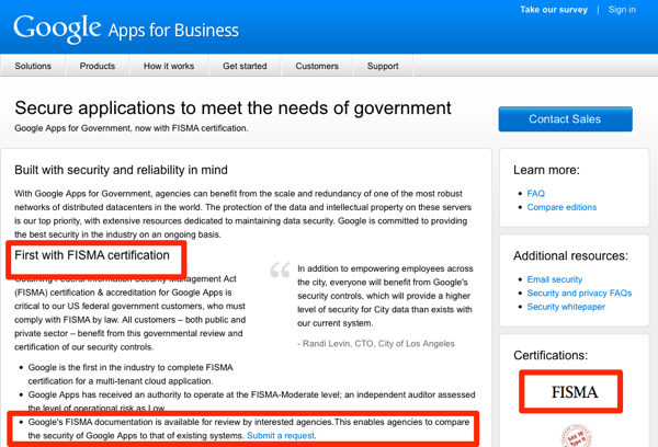 FISMA certified cloud applications for government  Google Apps  Build 20110318052756