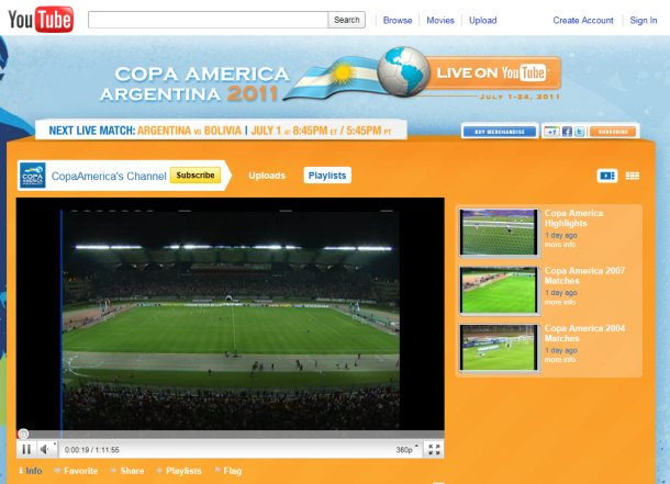 copa america on youtube