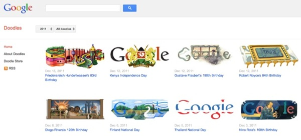 Doodles google site