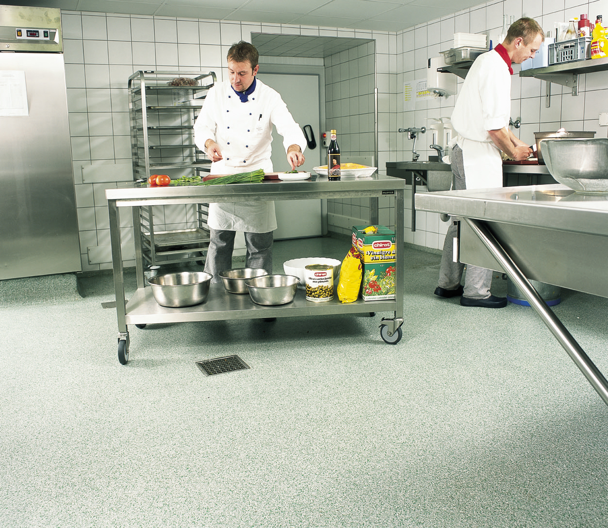 types of kitchen flooring types of kitchen flooring Flake type of kitchen flooring with chefs cooking