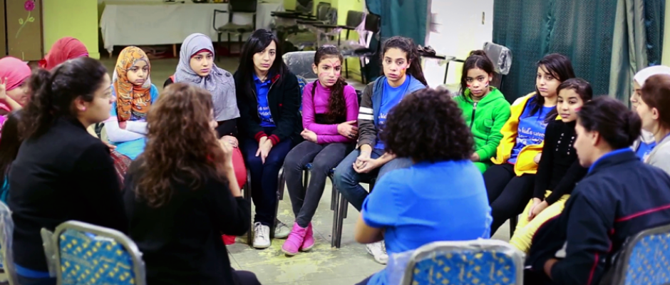 Children and youth in Cairo take part in dynamic workshops to prevent sexual harassment.