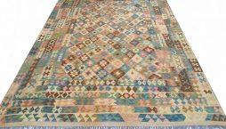 Oosterse Afghaan Khyber kelim 353 x 246 cm