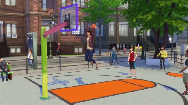 Basketball City Living Sims 4