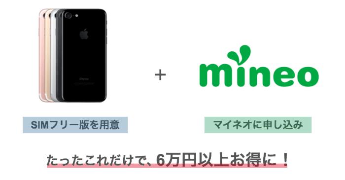iPhone7をmineo(マイネオ)で!